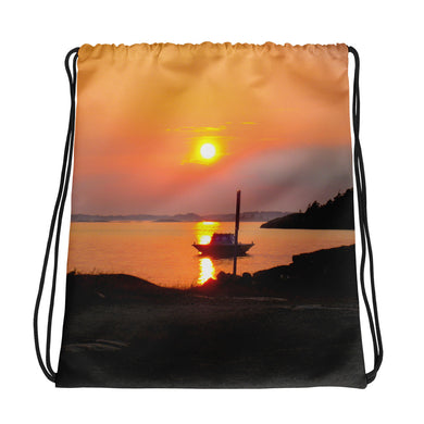 Drawstring Bag, sunset in archipelago-Marine-Local Webstore