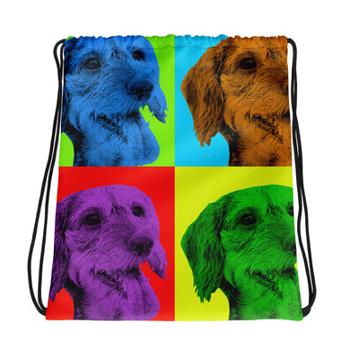 Drawstring bag, Andy Warhol dachshund - Local Web Store - [product type] Collection