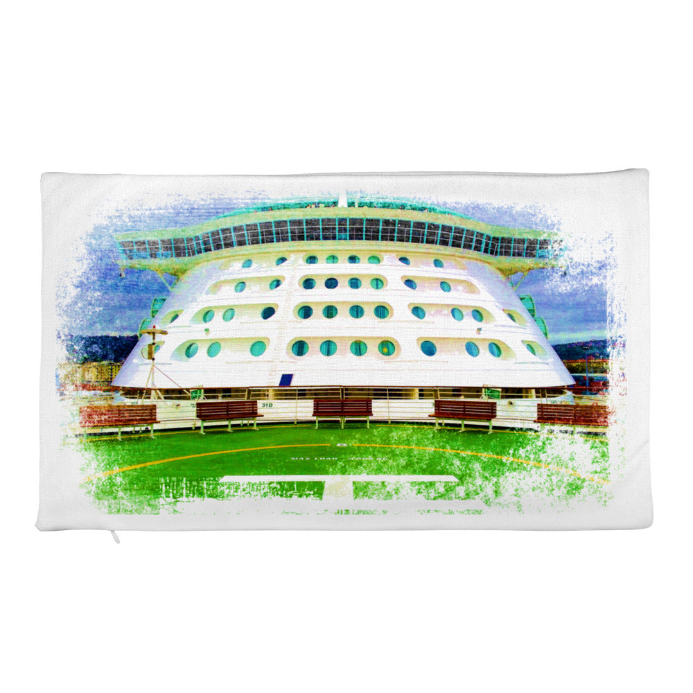 Premium Pillow Case, front of cruise liner - Local Web Store - [product type] Collection