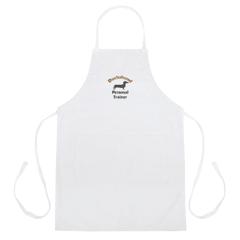 Embroidered Apron, personal trainer-Dachshund-Local Webstore