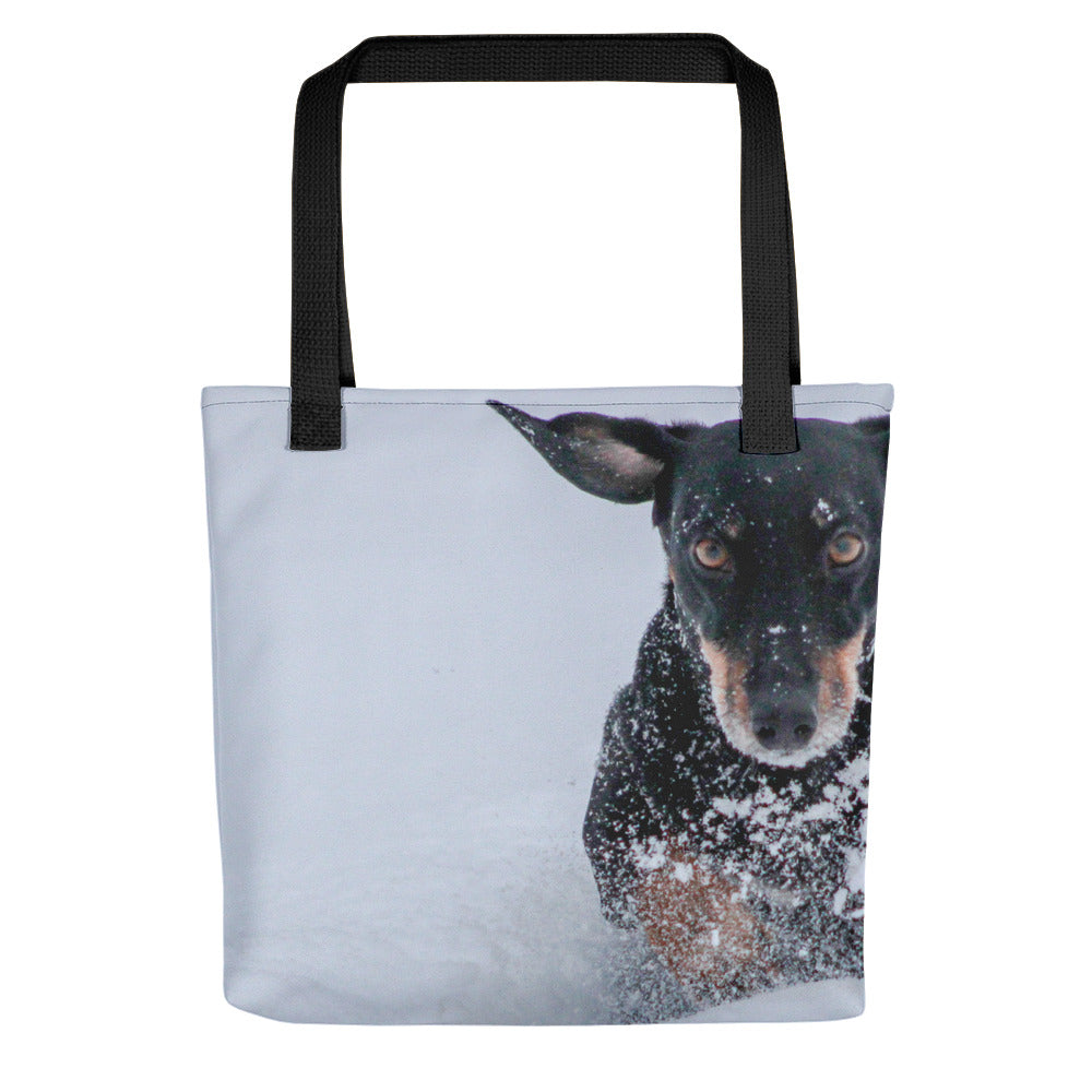 Tote Bag, running dachshund-Dachshund-Local Webstore