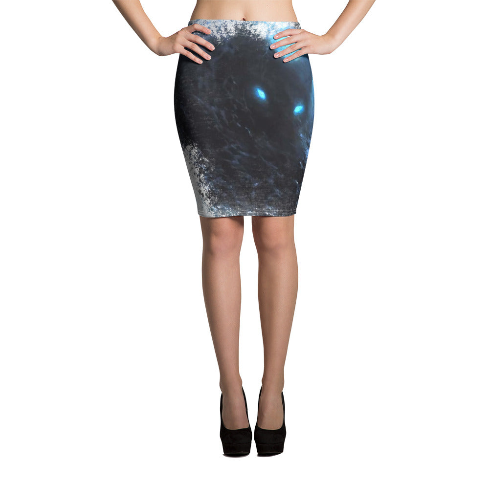 Pencil Skirt, stormy ocean - Local Web Store - [product type] Collection