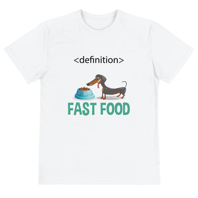 Sustainable T-Shirt, dachshund fast food-Dachshund-Local Webstore