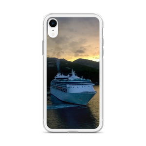 iPhone Case, cruise liner in sunset-Marine-Local Webstore