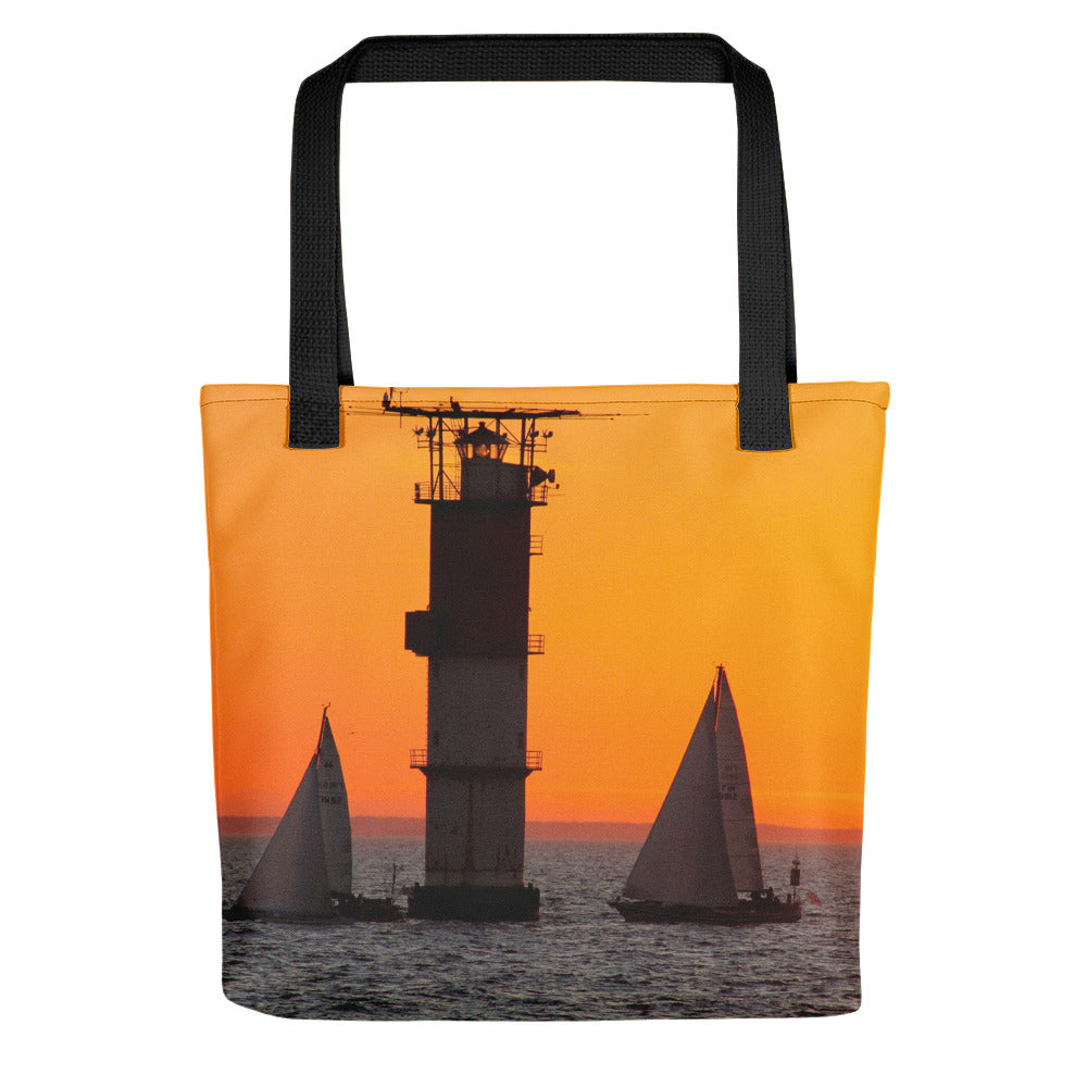 Tote Bag, sailboats in sunset-Marine-Local Webstore
