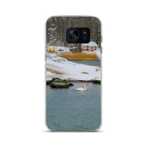 Samsung Case, swan in wintery archipelago-Marine-Local Webstore