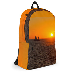 Backpack, sailboats in sunset-Marine-Local Webstore
