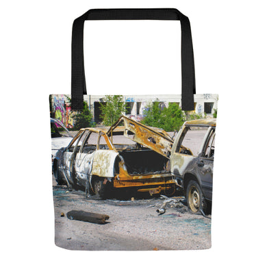 Tote Bag, burnt cars-Freedom-Local Webstore