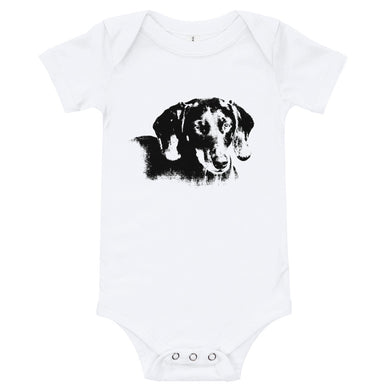 Baby Bodysuit, smooth coat dachshund-Dachshund-Local Webstore