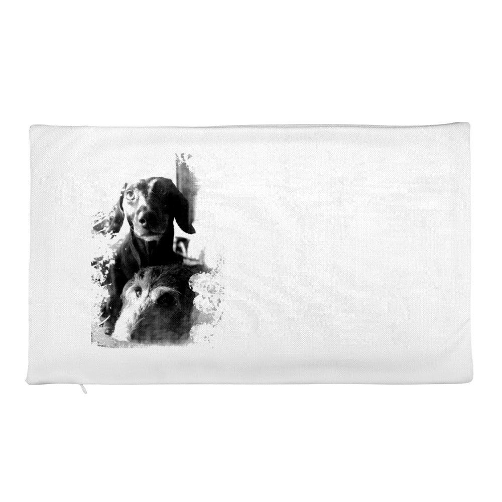 Premium Pillow Case, two dachshunds-Dachshund-Local Webstore
