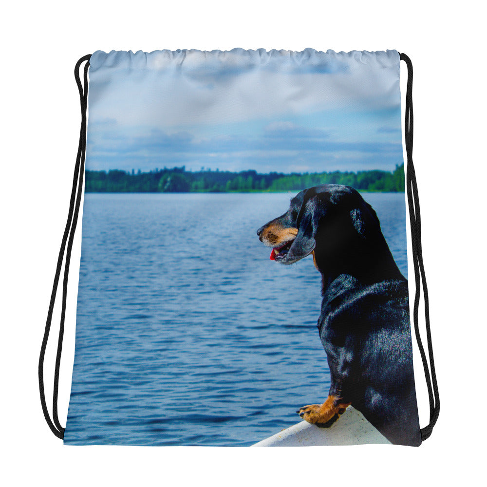 Drawstring Bag, dachshund-Dachshund-Local Webstore