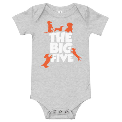 Baby bodysuit, the big five-Dachshund-Local Webstore