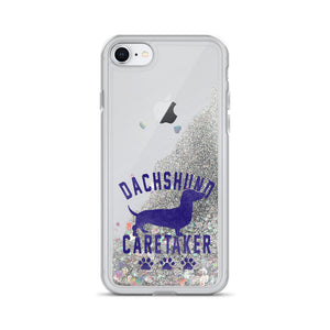 Liquid Glitter Phone Case, dachshund caretaker - Local Web Store - [product type] Collection