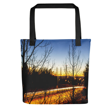 Tote Bag, highway at night-Freedom-Local Webstore