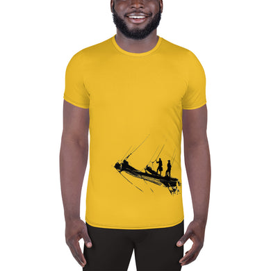 Men's Athletic T-shirt, tall ship bow - Local Web Store - [product type] Collection