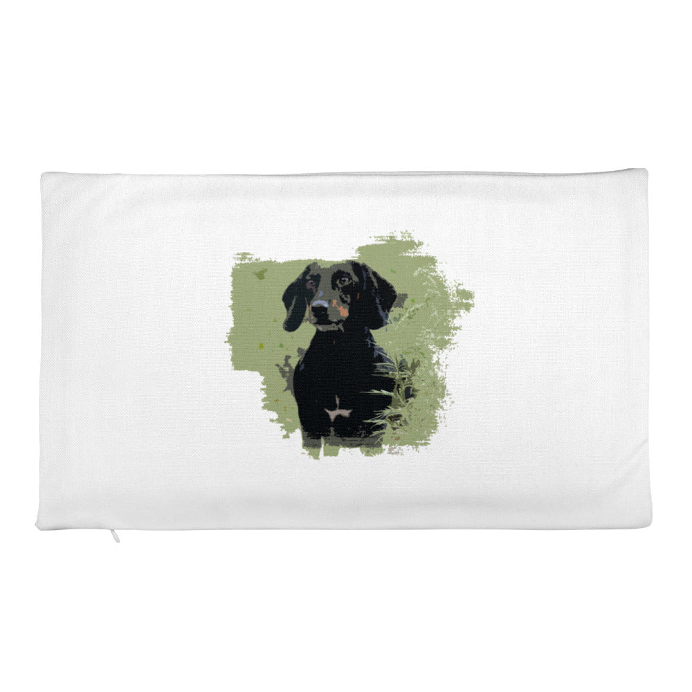 Premium Pillow Case, smooth coat dachshund-Dachshund-Local Webstore