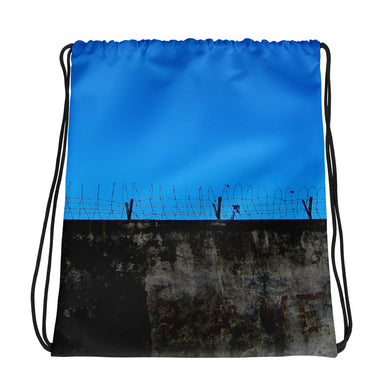 Drawstring Bag, barbed wire - Local Web Store - [product type] Collection