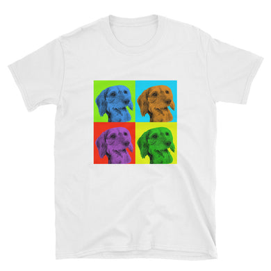 Bargain T-Shirt, Andy Warhol style dachshund-Dachshund-Local Webstore