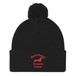 Pom Pom Knit Cap, personal trainer-Dachshund-Local Webstore