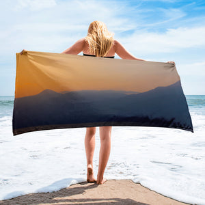 Towel, mountains in sunrise-Marine-Local Webstore