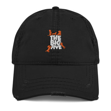 Distressed Dad Hat, the big five-Dachshund-Local Webstore