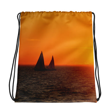 Drawstring Bag, sailboats in sunset-Marine-Local Webstore