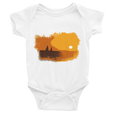 Infant Bodysuit, sailboats in sunset-Marine-Local Webstore