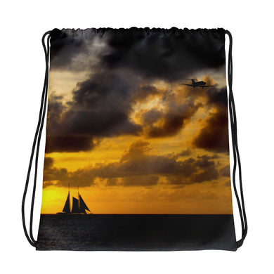 Drawstring Bag, sailboat in sunset-Marine-Local Webstore