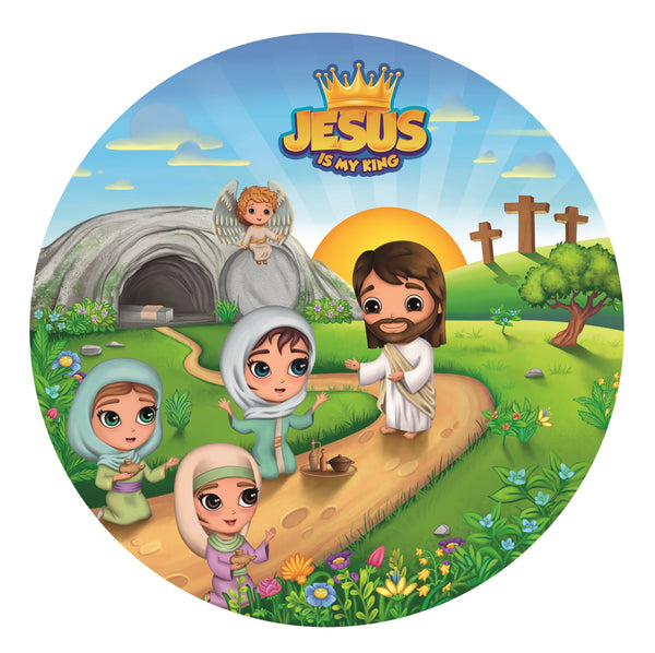 Round Plate - Jesus is my King