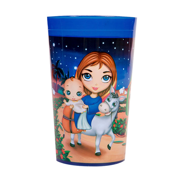 Plastic Tumbler Cup - Christ is Born