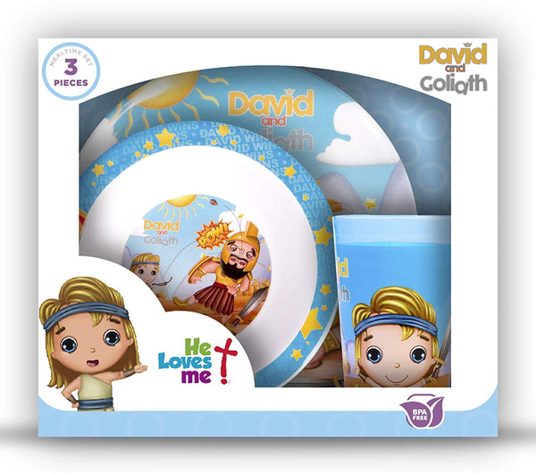 Mealtime Gift Set 3pcs -  David & Goliath