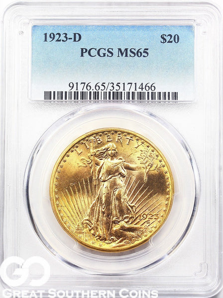 U.S. Gold, $20 St. Gaudens Double Eagle PCGS MS 65 ** Random Dates
