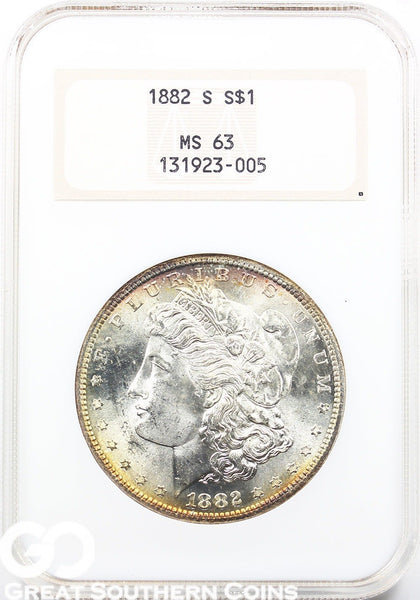 Random Date NGC MS-63 TONED Morgan Silver Dollar Mint State 63