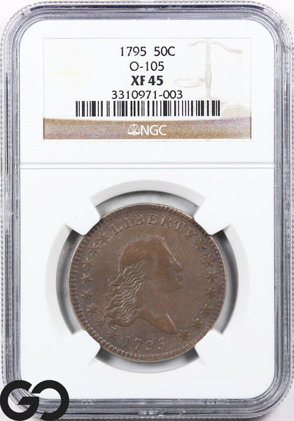 1795 Flowing Hair Half Dollar NGC EX45 ** O-105, Scarce Early Silver Survivor!