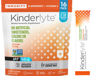 16ct Advanced Electrolyte Powder Orange Citrus Kinderlyte