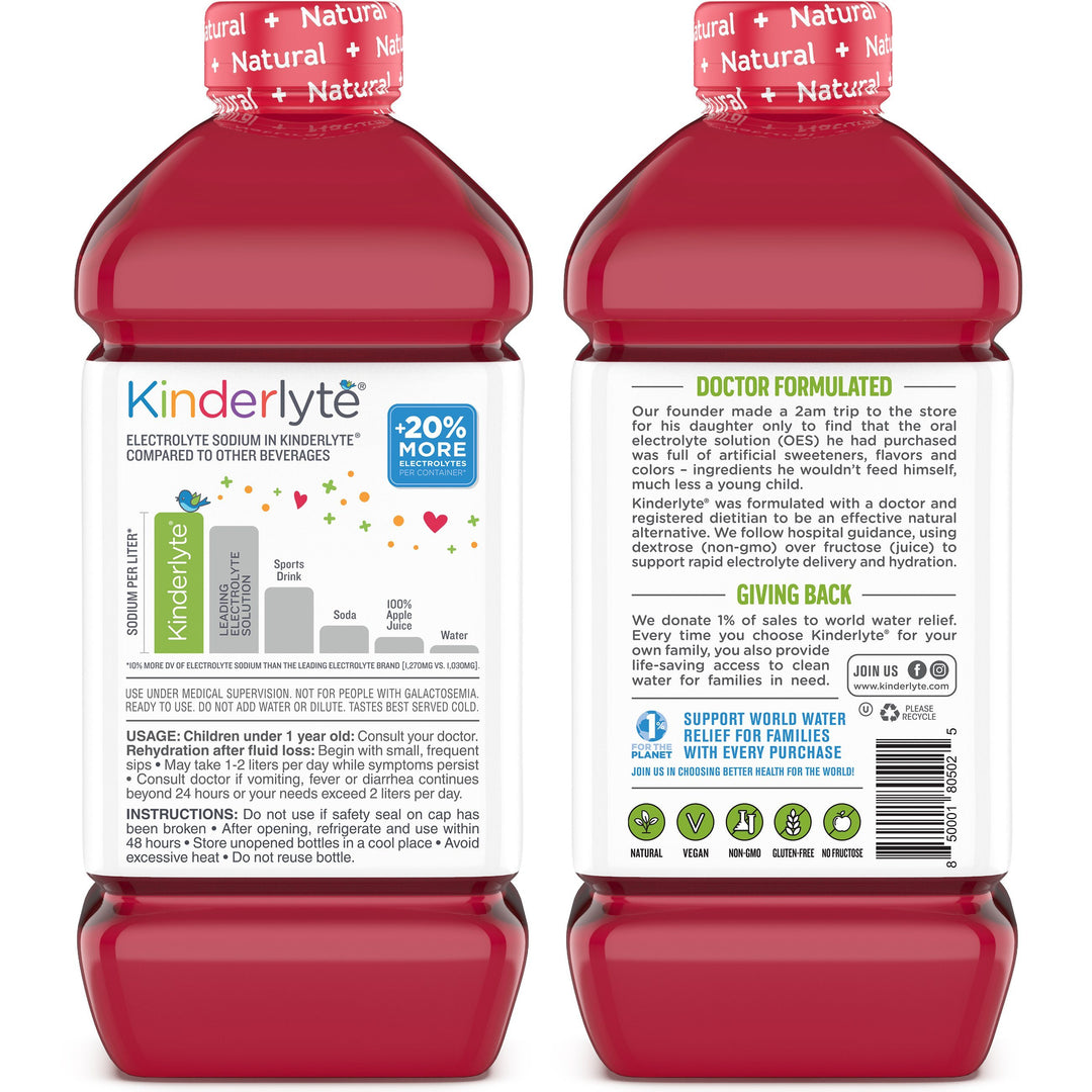 Kids Oral Electrolyte Solution Fruit Punch Kinderlyte