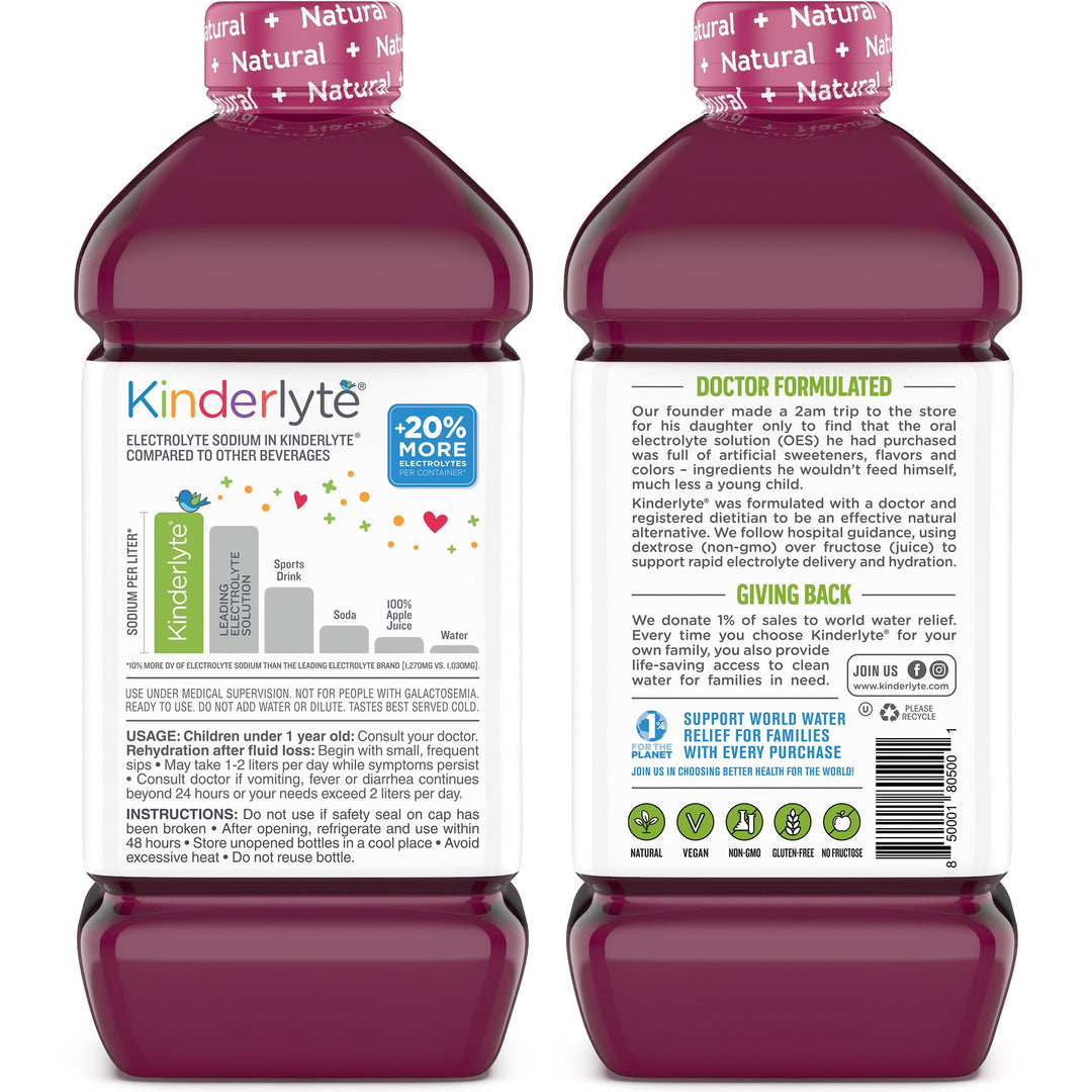 Kids Oral Electrolyte Solution Grape Kinderlyte
