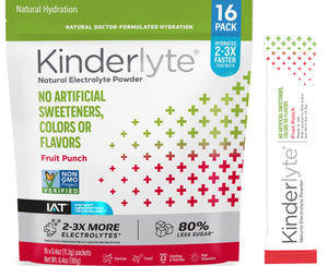 16ct Natural Electrolyte Powder Fruit Punch Kinderlyte
