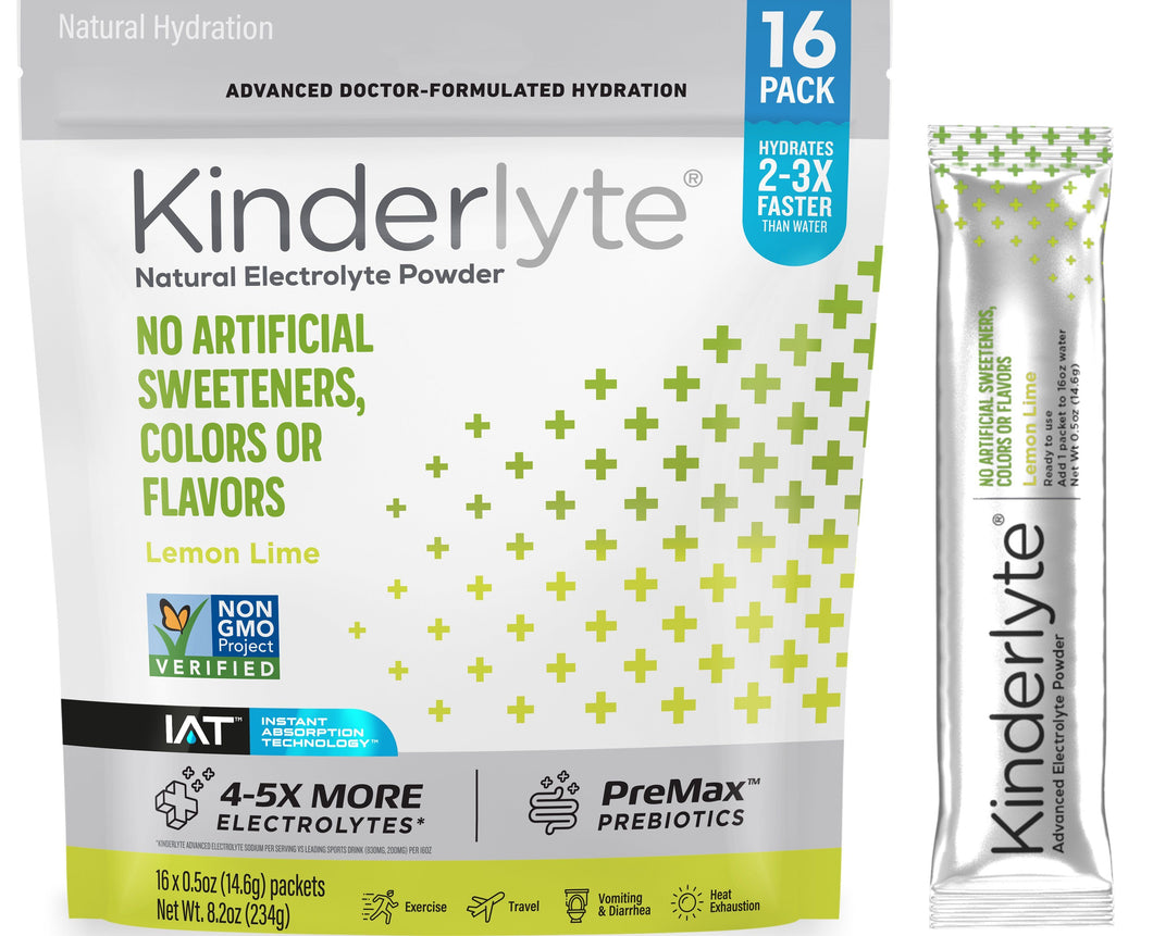16ct Advanced Electrolyte Powder Lemon Lime Kinderlyte