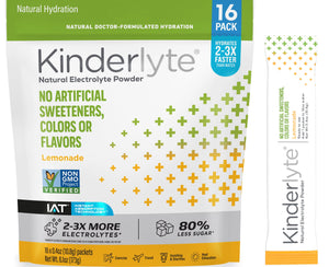 16ct Natural Electrolyte Powder Lemonade Kinderlyte