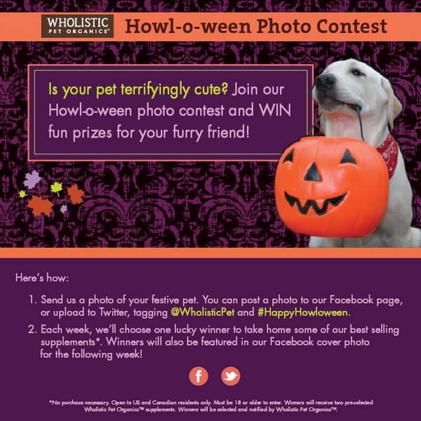 Wholistic Howl-o-ween Photo Contest