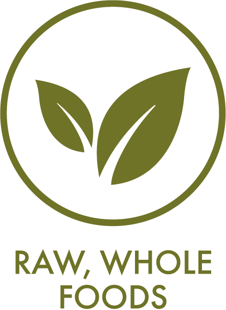 Whole, raw foods