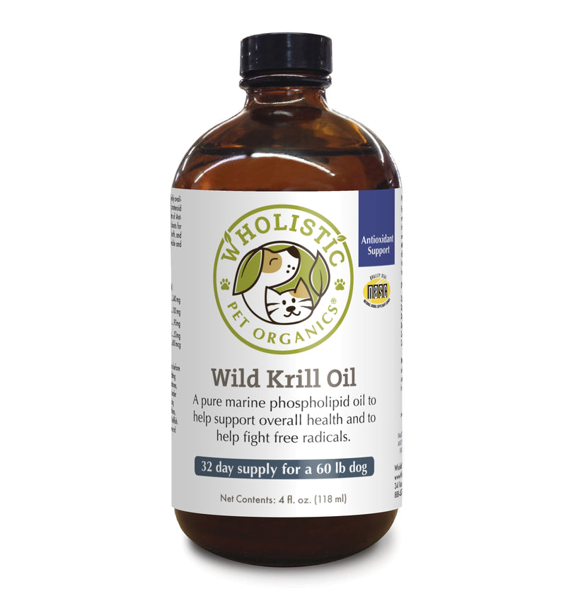 Wholistic Pet Organics Krill Oil 4 oz bottle front