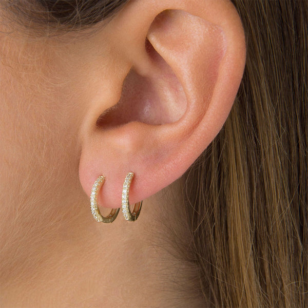 Aretes Hoops Brillantes Duo