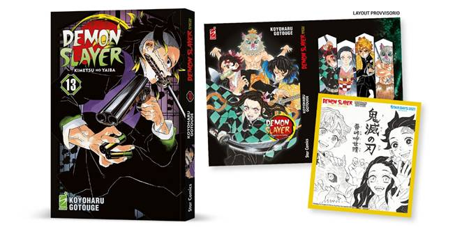 STAR DAYS 2021 - Pre-Order DEMON SLAYER - KIMETSU NO YAIBA n. 13