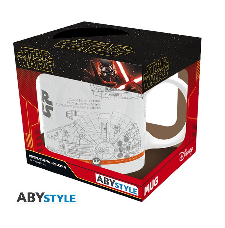 Star wars Tazza Millennium Falcon/X-Wing