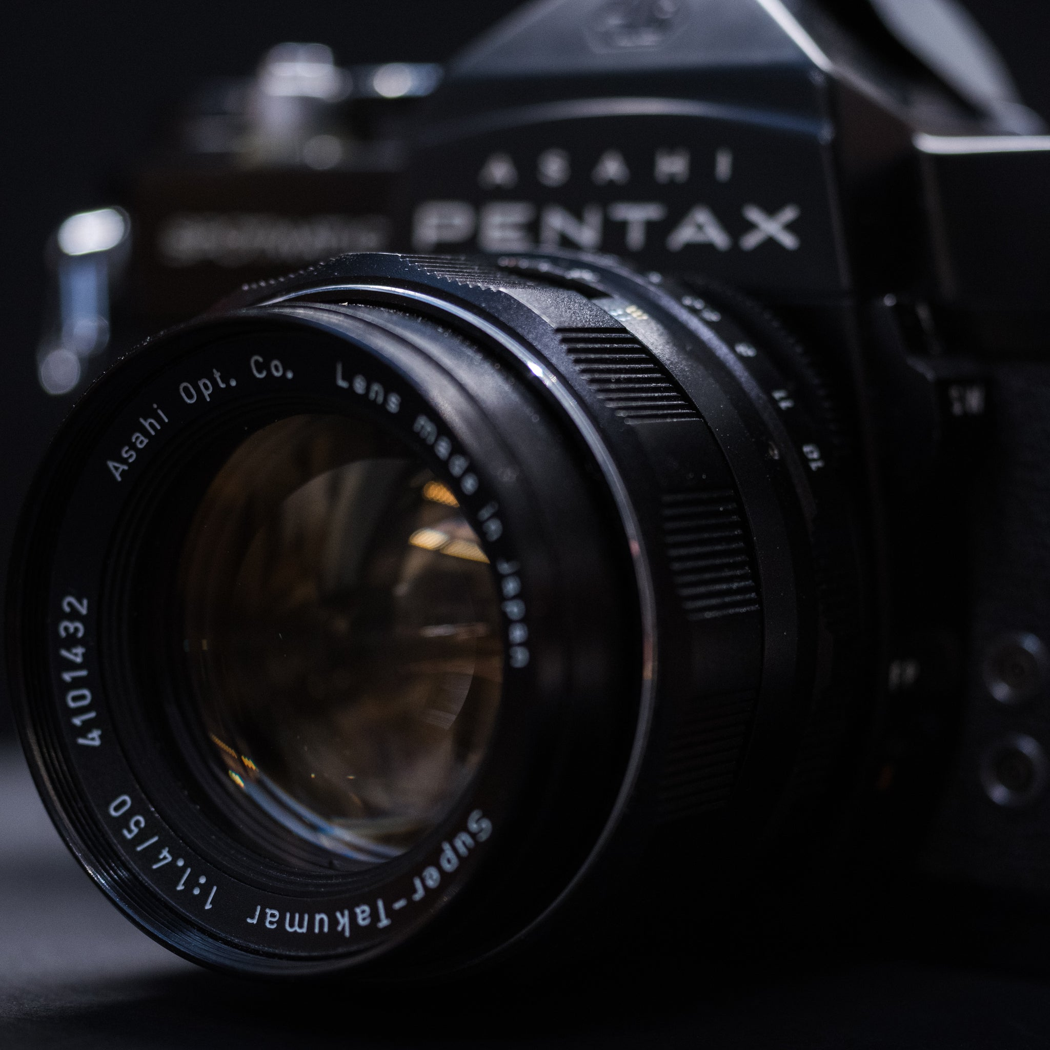 Pentax Spotmatic SP with Super Takumar 50mm 1.4 prime & 70-150 zoom lens