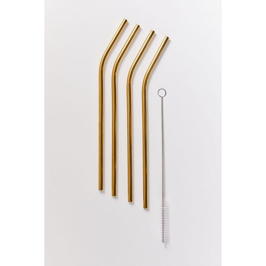 Metalic Gold Straws  (4 units/blister)