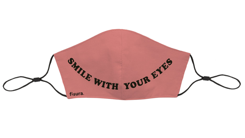 Mascarilla adultos Smile with your eyes - Rosa. Testada en laboratorio. UNE0065