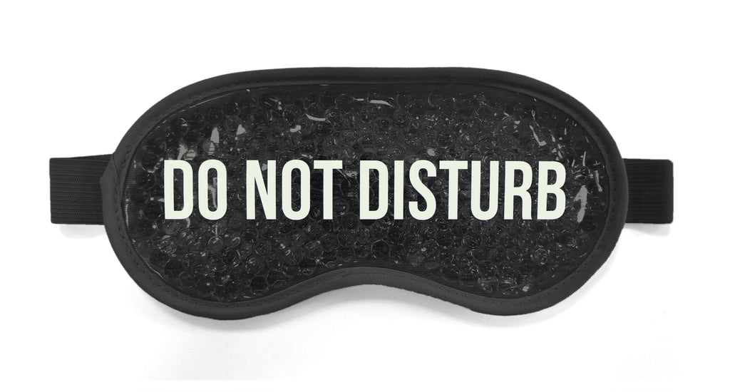"Antifaz Negro ""Do not disturb"""